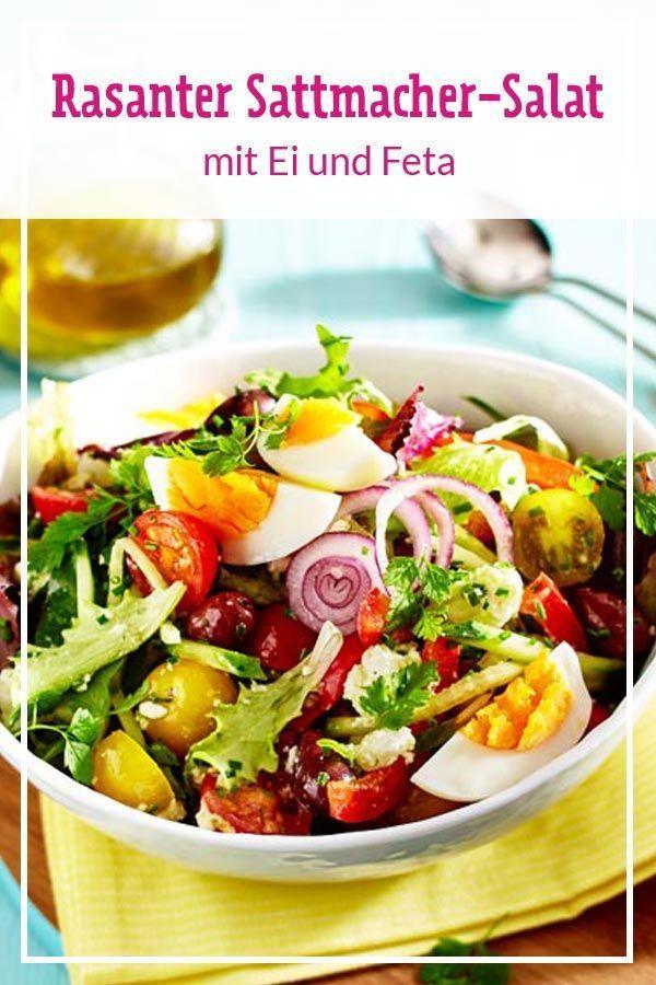 Rasanter Salat mit Ei und Feta Rezept | LECKER