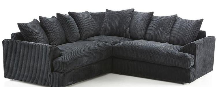 Ferrous Premium Cord Fabric Double Corner Sofa Corner Sofa Fabric Corner Sofa Large Sofa