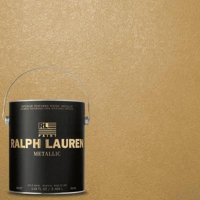 Ralph Lauren 1 Gal Golden Buttermilk Gold Metallic Specialty Finish Interior Paint Me133 At The
