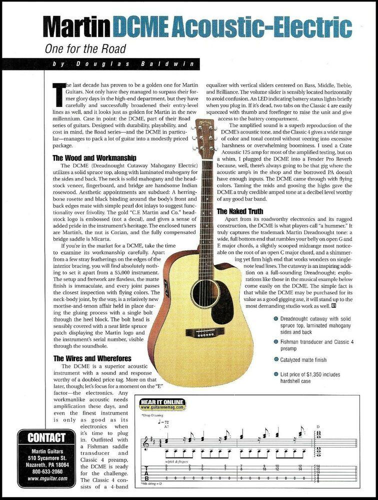 Martin Dcme Acoustic Electric Guitar 2000 Sound Check Review Article Martin Acoustic Electric Martin Acoustic Guitar Guitar
