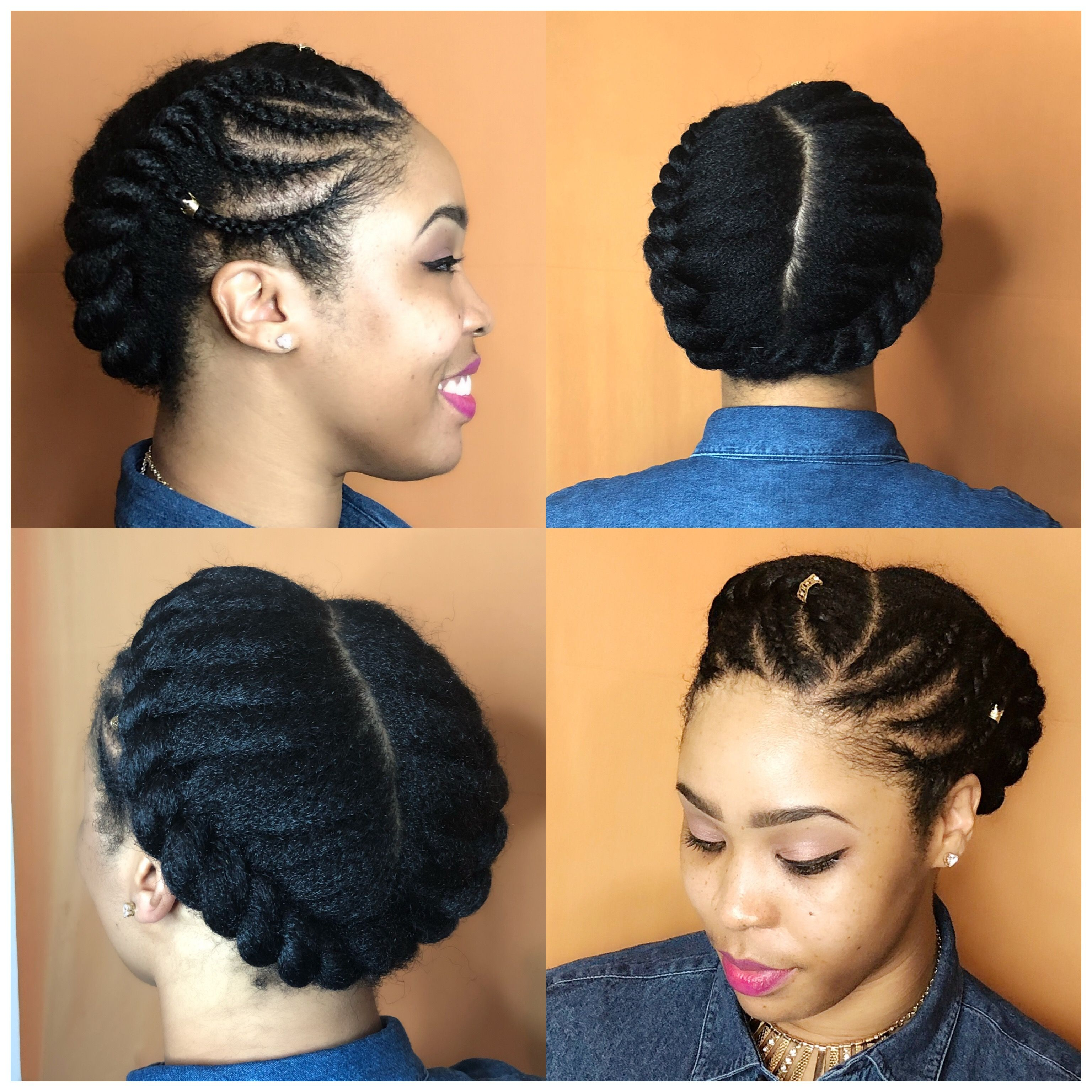 Protective Styles For Short Natural Hair Loveleyshair Flat Twist  Braids 4C Hairstyles 4C Protective