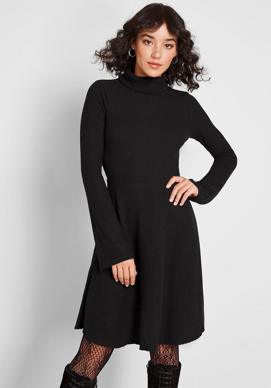 Idyllic Arrangement Sweater Dress Sweater Dress Mod Cloth Dresses Dresses [ 1304 x 913 Pixel ]