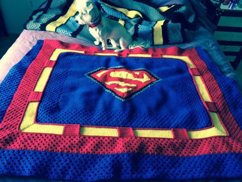 Superman Crochet Blanket Pattern is on its way! Check it out on ...