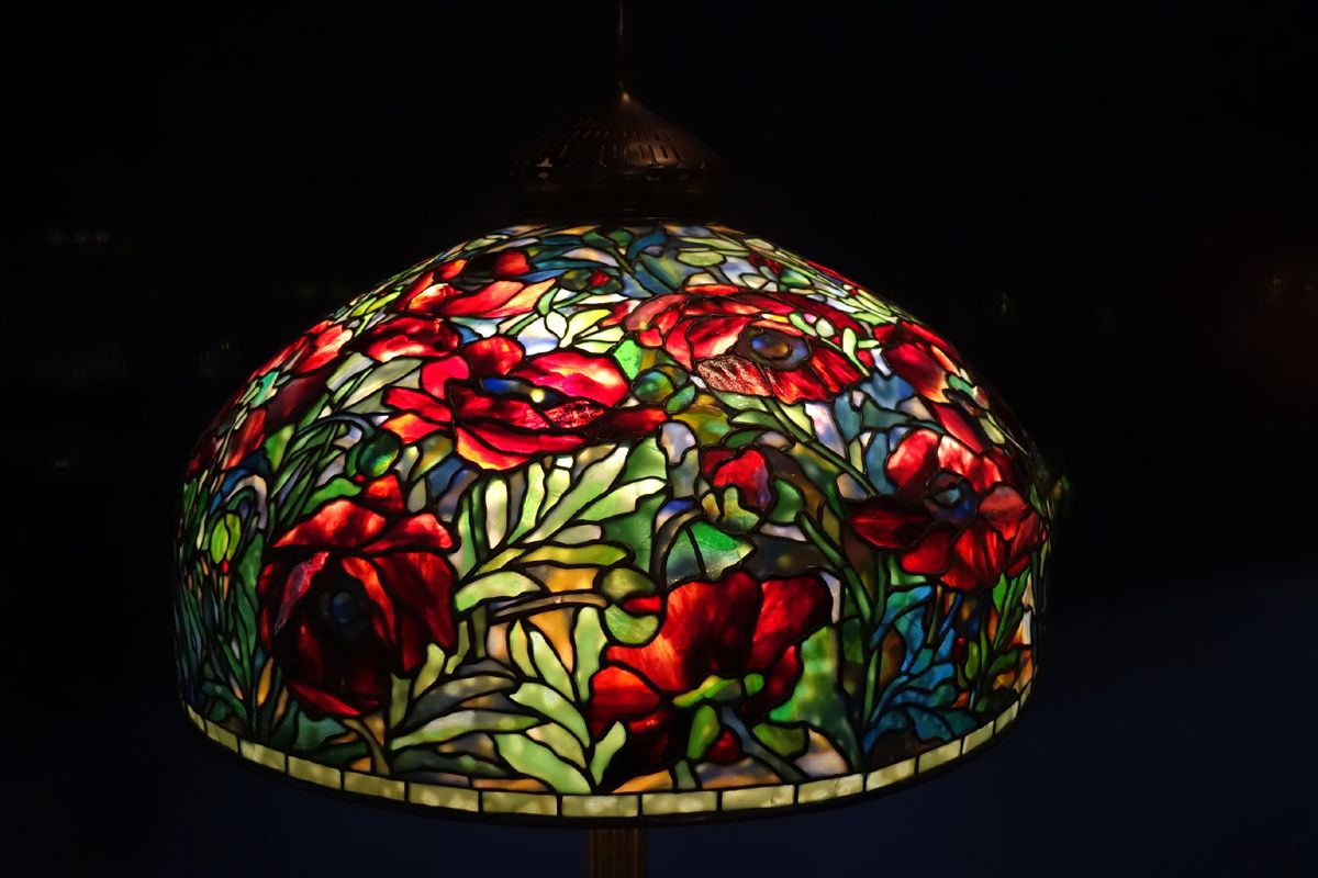 New York Historical Society Collection of Tiffany Lamps in