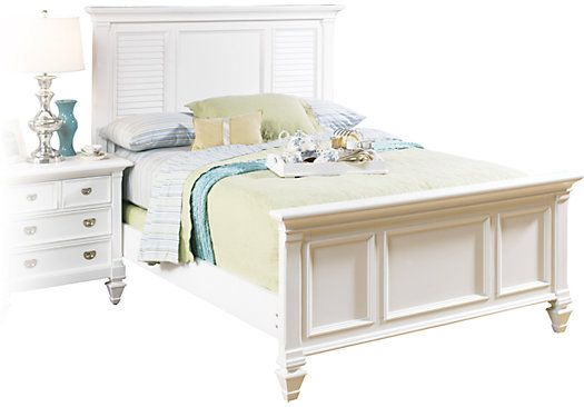 For A Belmar White 3 Pc Queen Panel Bed At Rooms To Go