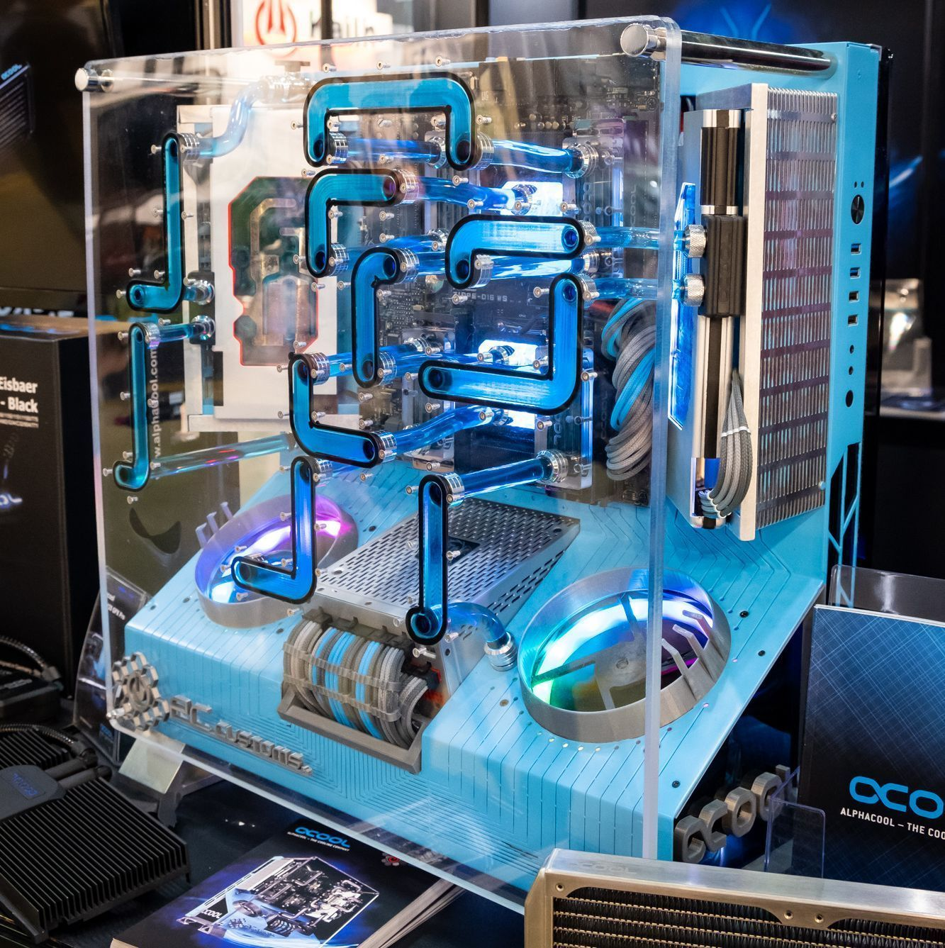 Computex 2018 Alphacool Booth Water Cooling Delivery Integrated