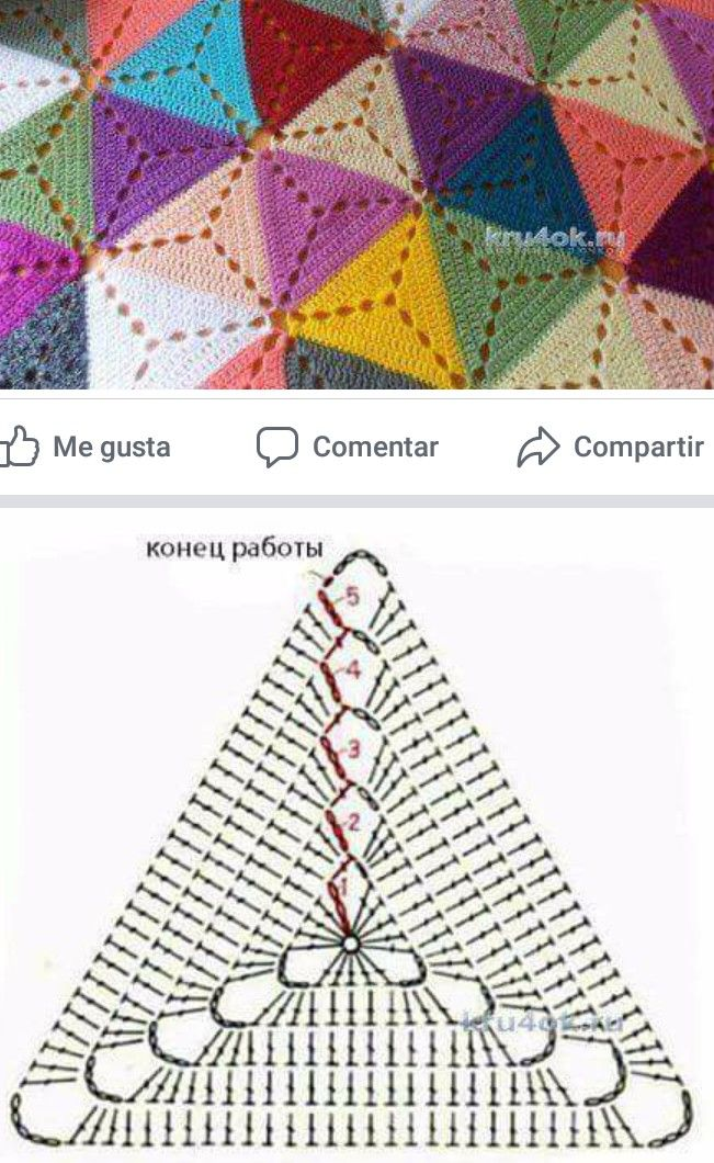 Pin de cachirula en knit8 - afghan,granny,motif,ripple | Pinterest