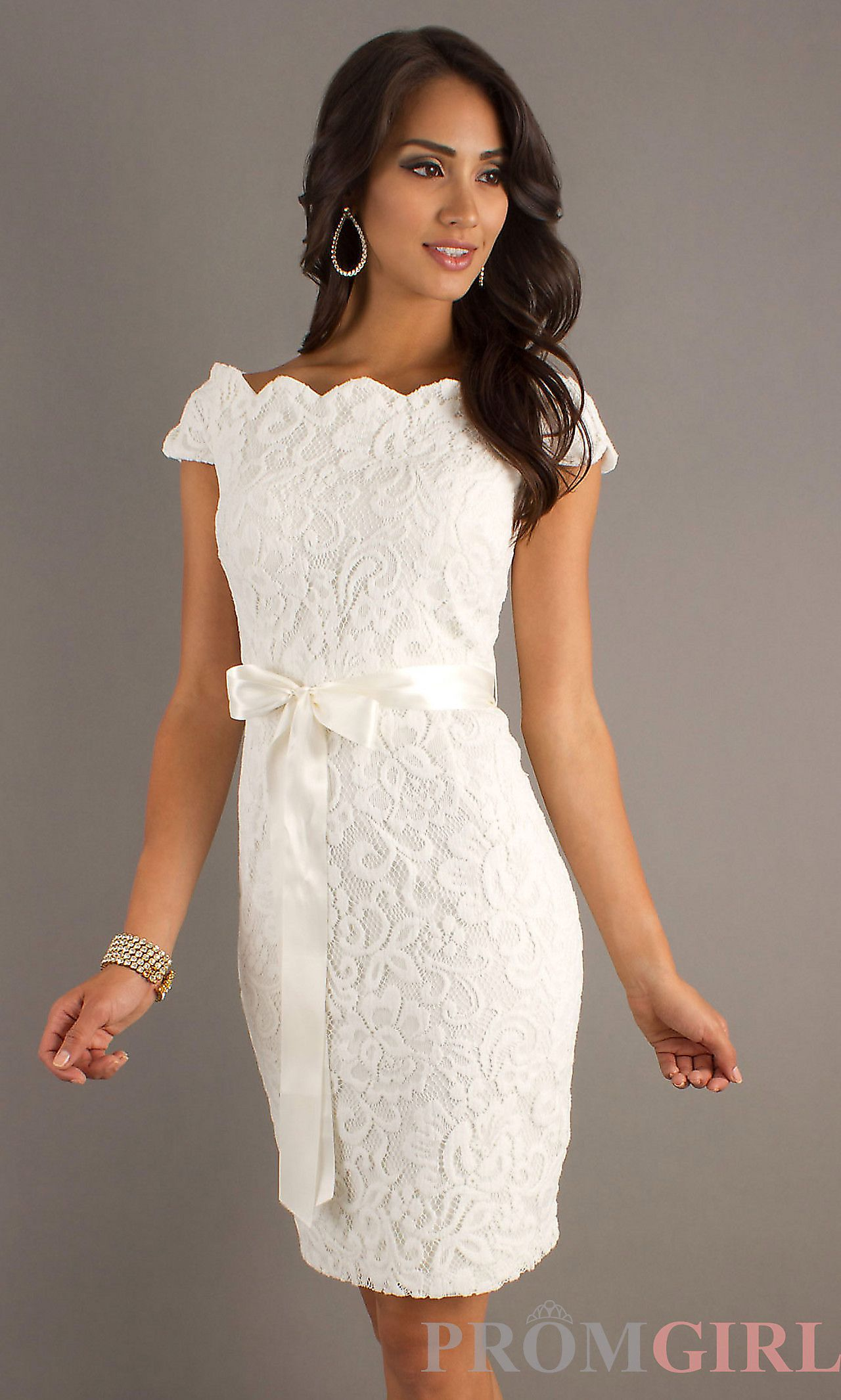 Medium Crop Of White Bridal Shower Dress