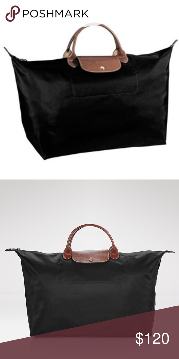 Longchamp Le Pliage Black Nylon Duffel Bag Large In great condition!!!! Used 1c6d42580b