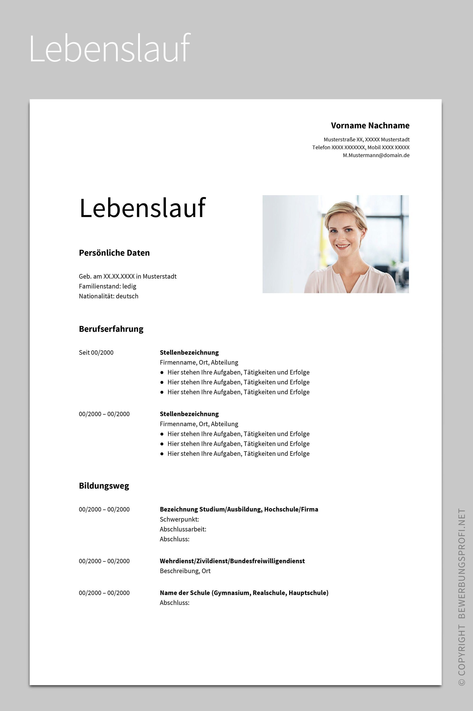 30 Lebenslauf Design Vorlage Download Lebenslauf Bewerbung Lebenslauf Vorlage Lebenslauf Design Vorlage