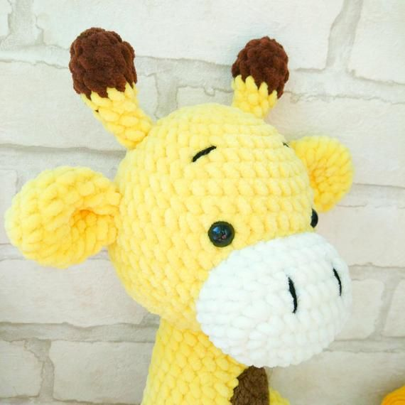 GIRAFFE CROCHET PATTERN, Crochet animal pattern, Amigurumi pattern Plush Giraffe stuff animal, Crochet toy pattern, knit animal pattern #crochetgiraffepattern