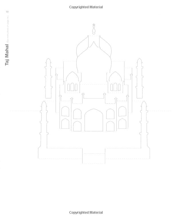 Taj Mahal Kirigami Pop Up Card Templates Kirigami Tutorial Kirigami