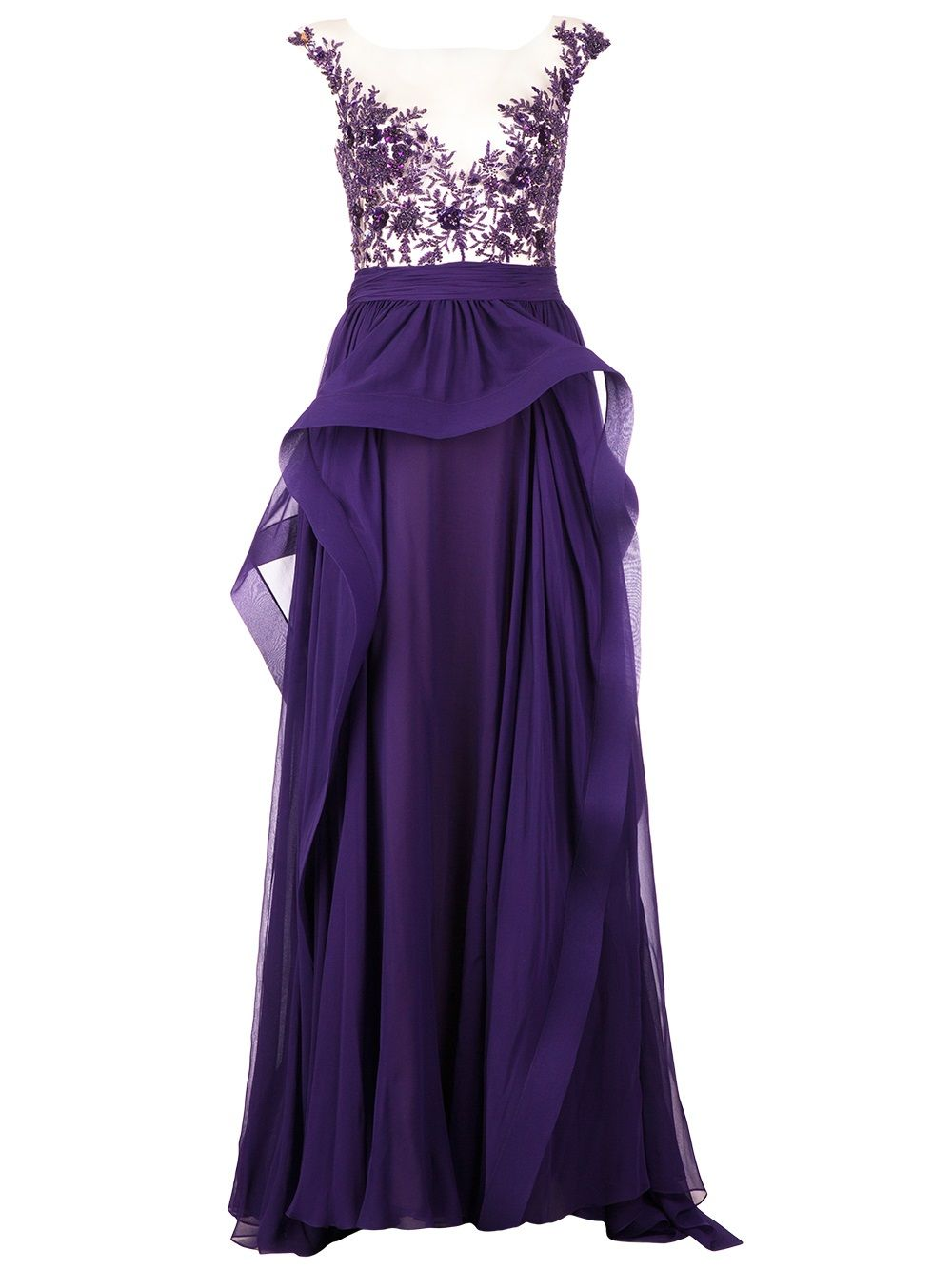 Purple dresses to wear to a wedding  Womenus Purple Frilled Evening Gown  Pink purple and Gowns