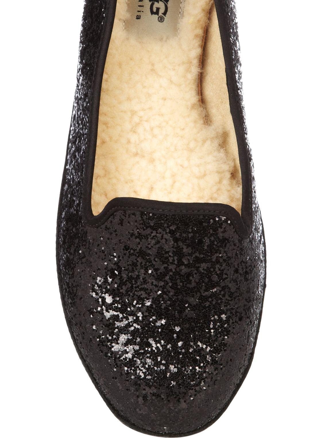 UGG Australia Loafer Alloway met glitters • de Bijenkorf > they actually look nice and comfy :D