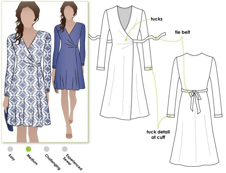 Kate Dress PDF   Costura, Molde y Patrones