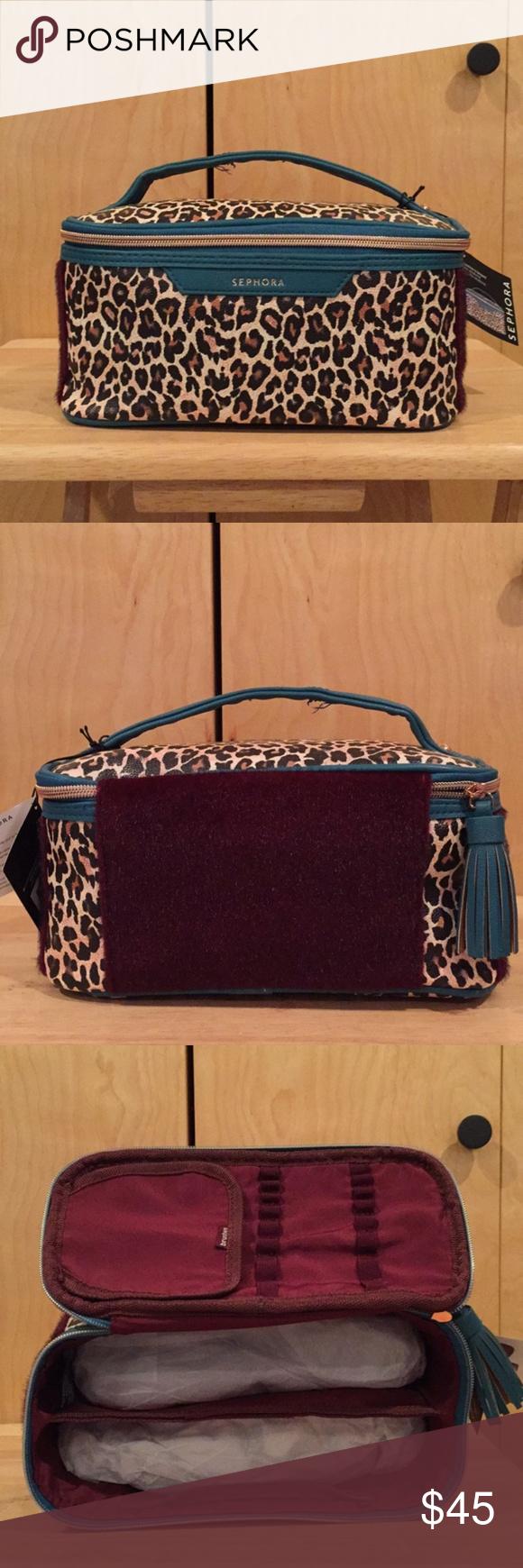 Sephora license to leopard vacationer makeup bag Bags