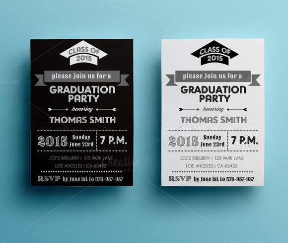 Graduation party invitation by annago on creative market pretty graduation party invitation by annago on creative market stopboris Images