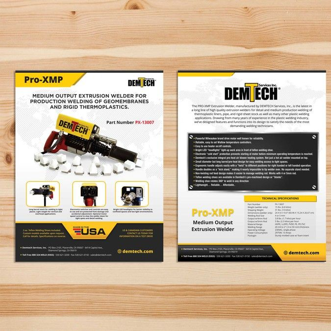 2 Sided Brochure Template In Microsoft Publisher By K41z4