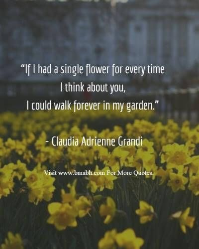 Quote garden dating