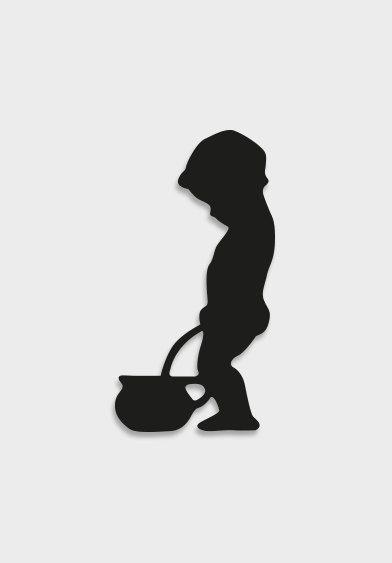 Boy Bathroom Silhouette Sign