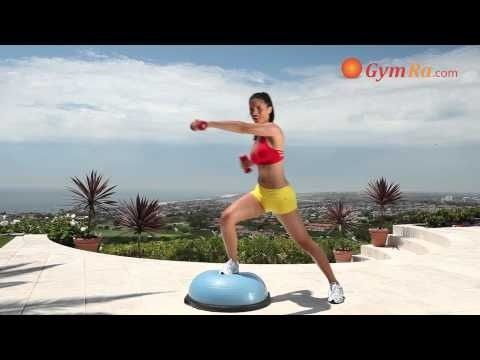 Great 10 Minute Bosu Ball Power Workout! Best of all its free to try. www.GymRa.com Weights, muscle, strength training, cardio workouts, circuit training, video workouts.