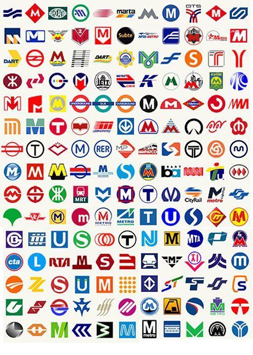 So Interesting How So Many Metro Transporation Logo Designs Use