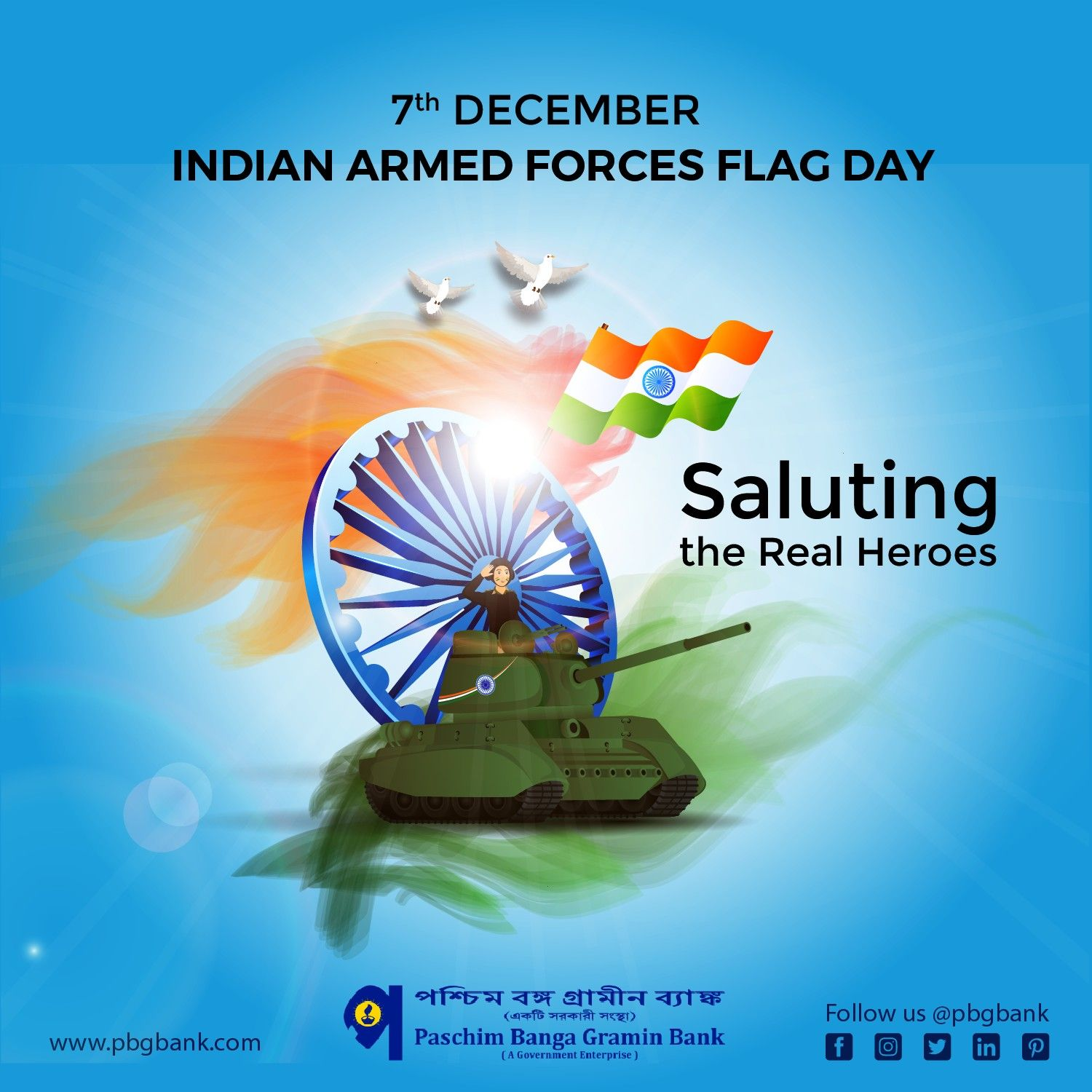 Indianarmedforcesflagday Paschimbangagraminbank Armedforcesflagday Armedforces Indianarmy Saluting Flagday Armed Forces Flag Day Real Hero Armed Forces