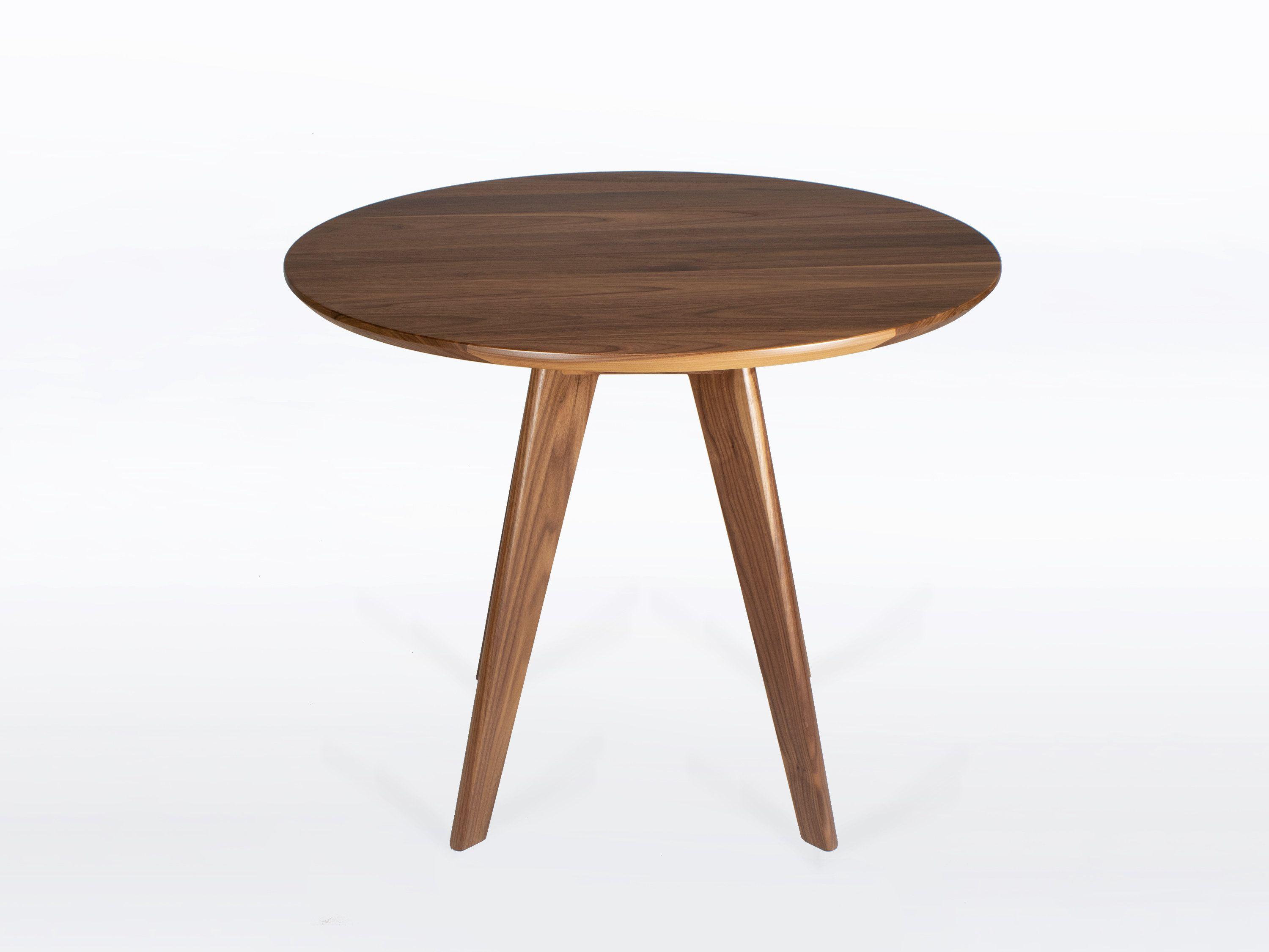 36 Inch Round Dining Table In Solid Natural Walnut Wood Seats 4 Ships Free By Nathanhunterdesign On Round Dining Table Round Dining Round Dining Room Table