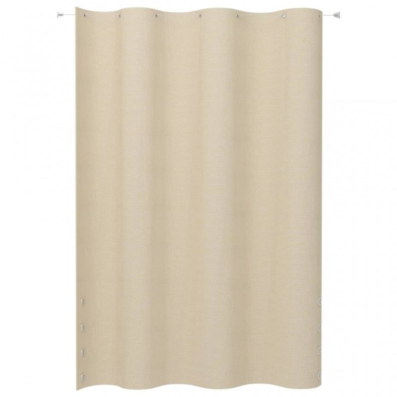 Photo of Vidaxl hanging balcony screen cream hdpe 140×230 cm