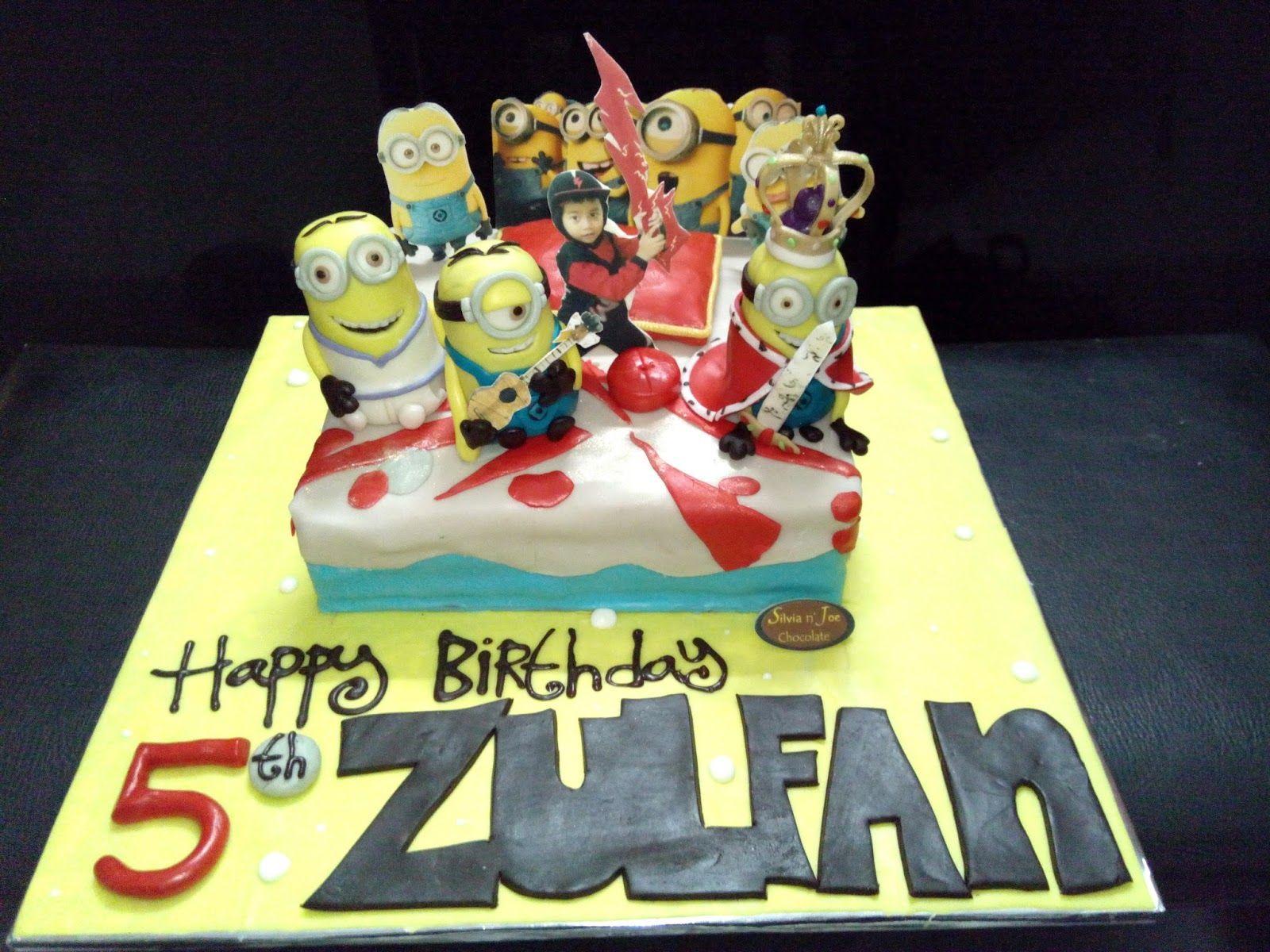 Kue ulang tahun 3D Minions Birthday Cake 3D 3DCake Minion