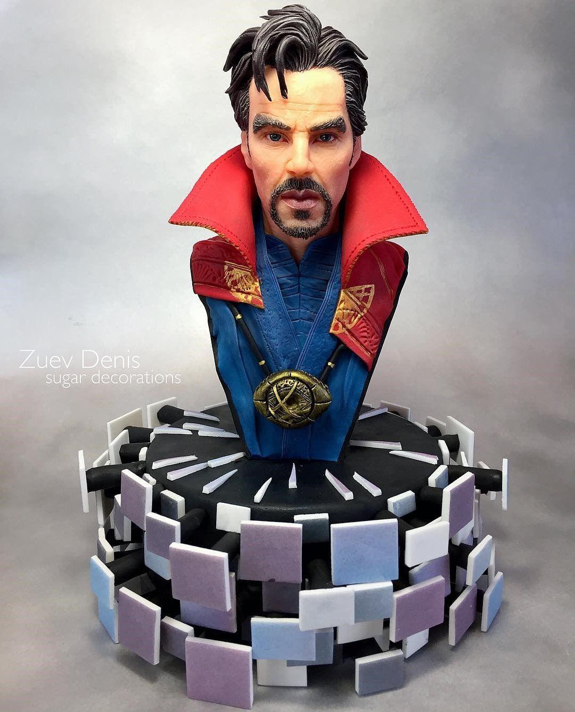 Disney DOCTOR STRANGE FIGURINE Cake TOPPER AVENGERS Marvel Sorcerer Supreme NEW