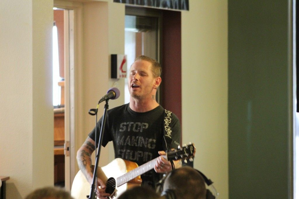 Corey Taylor Performs In The KOMP Lobby 2015