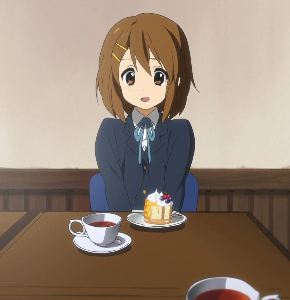 Itadakimasu Anime! Yui and her teatime cake! KOn