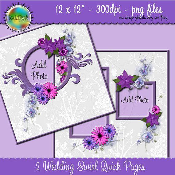 Designer Overlay Wedding Swirl Scrapbook Quick by Beauladigitals