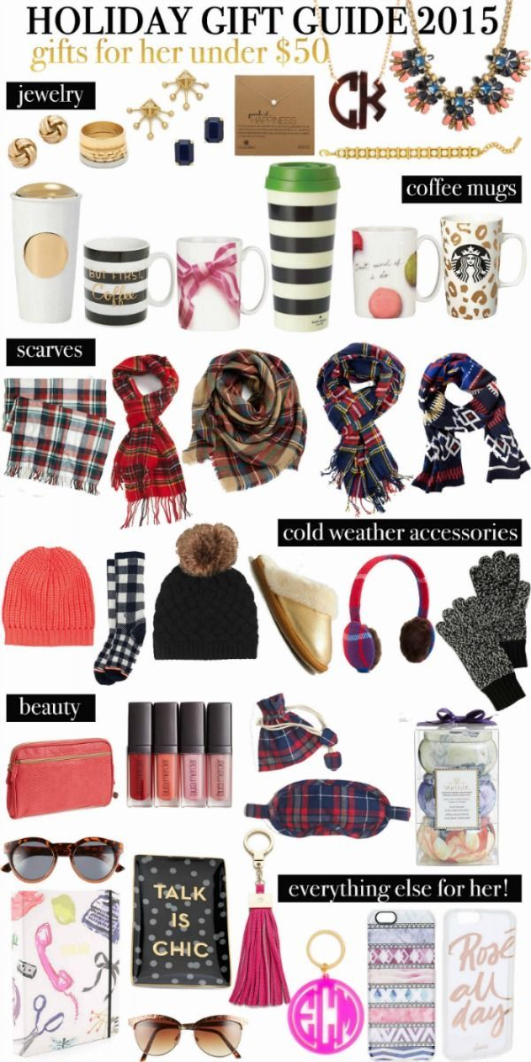 Holiday Gift Guide- Gifts for her under $50   great idea for