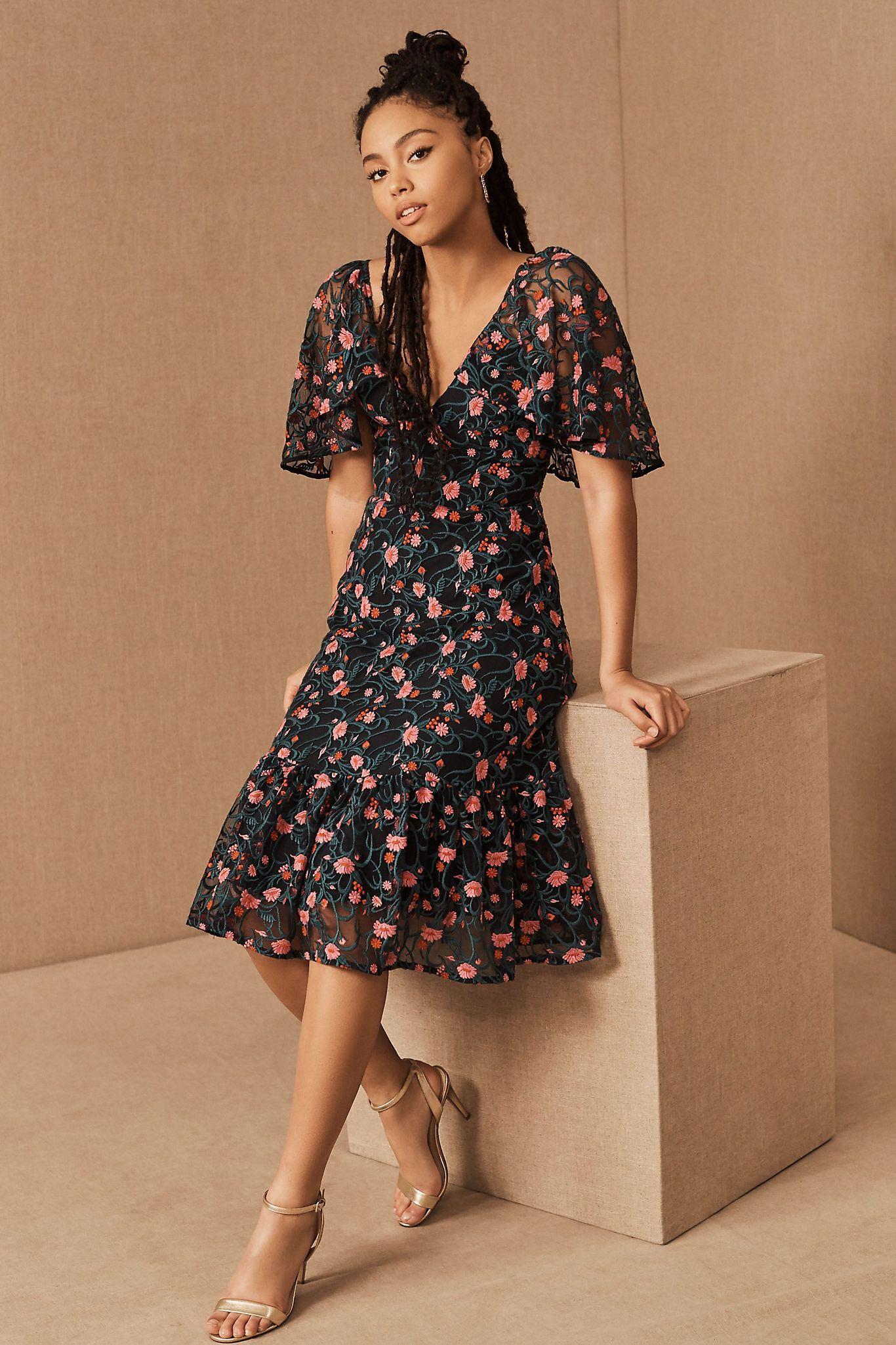 Shoshanna Chloe Petite Midi Dress in