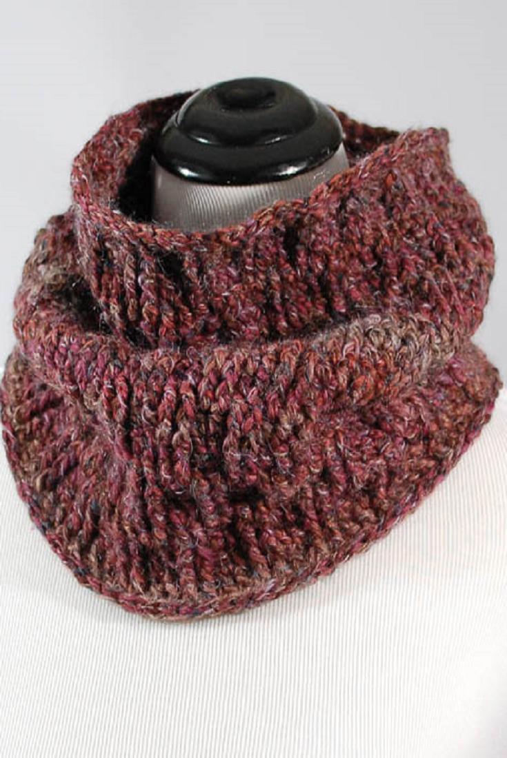 Dorable Patrón De Crochet Bufanda Infinito Para Principiantes ...
