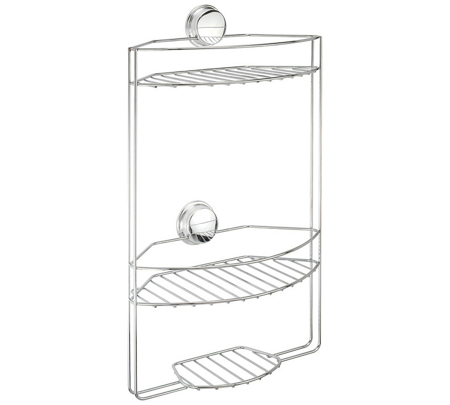 Buy Croydex Stick \'N\' Lock Three Tier Storage Basket - Chrome at ...