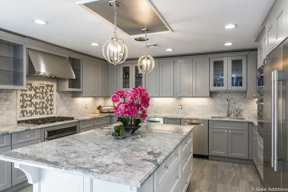 Levittown Cape Home Renovation Images Whole House Remodel With Exterior Facelift Stone Countertops Kitchen Kitchen Design Kitchen Countertops