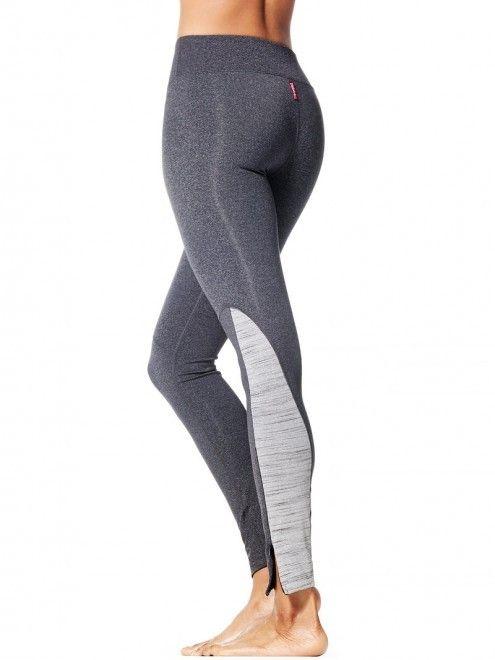 Side Zip Flat Waist Contrast Pant – Heather Gray