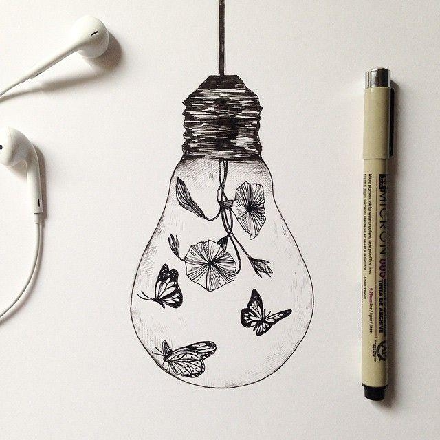 Bulb Butterlfy Effect Alfred Basha Graphictattoo Pinterest