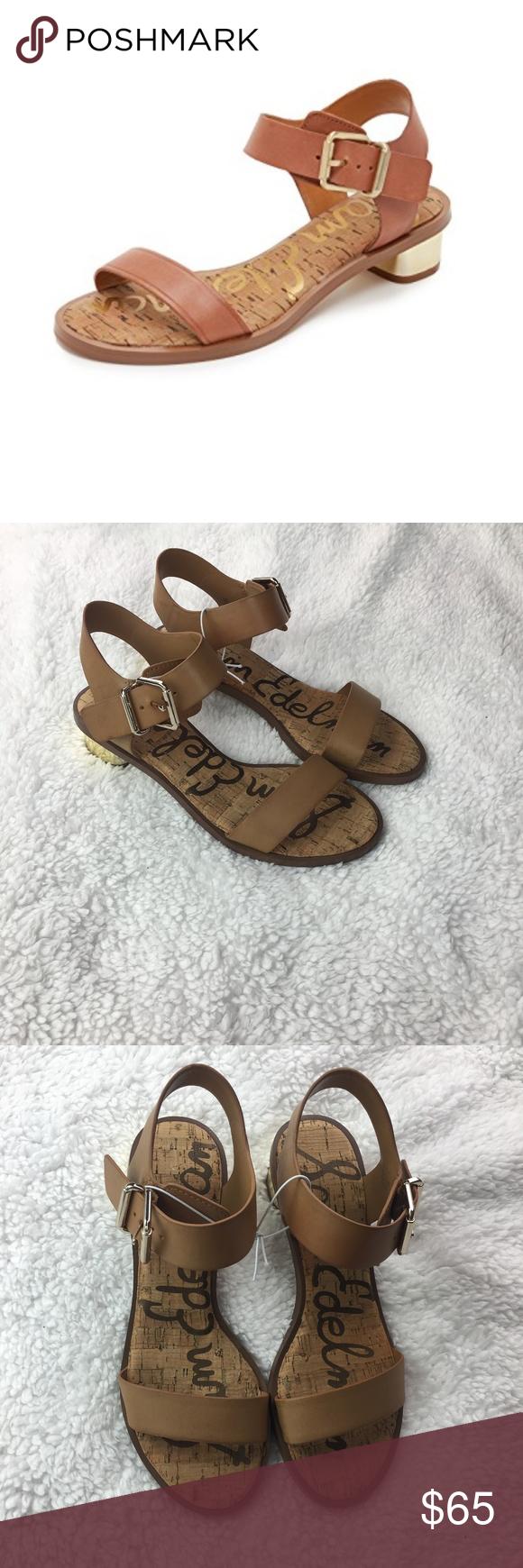 295fc4771c0f Sam Edelman Trixie sandals cognac gold heel Brand New! Sam Edelman Trixie  sandals color  whiskey. Cognac ankle strap sandals with small gold heel ...