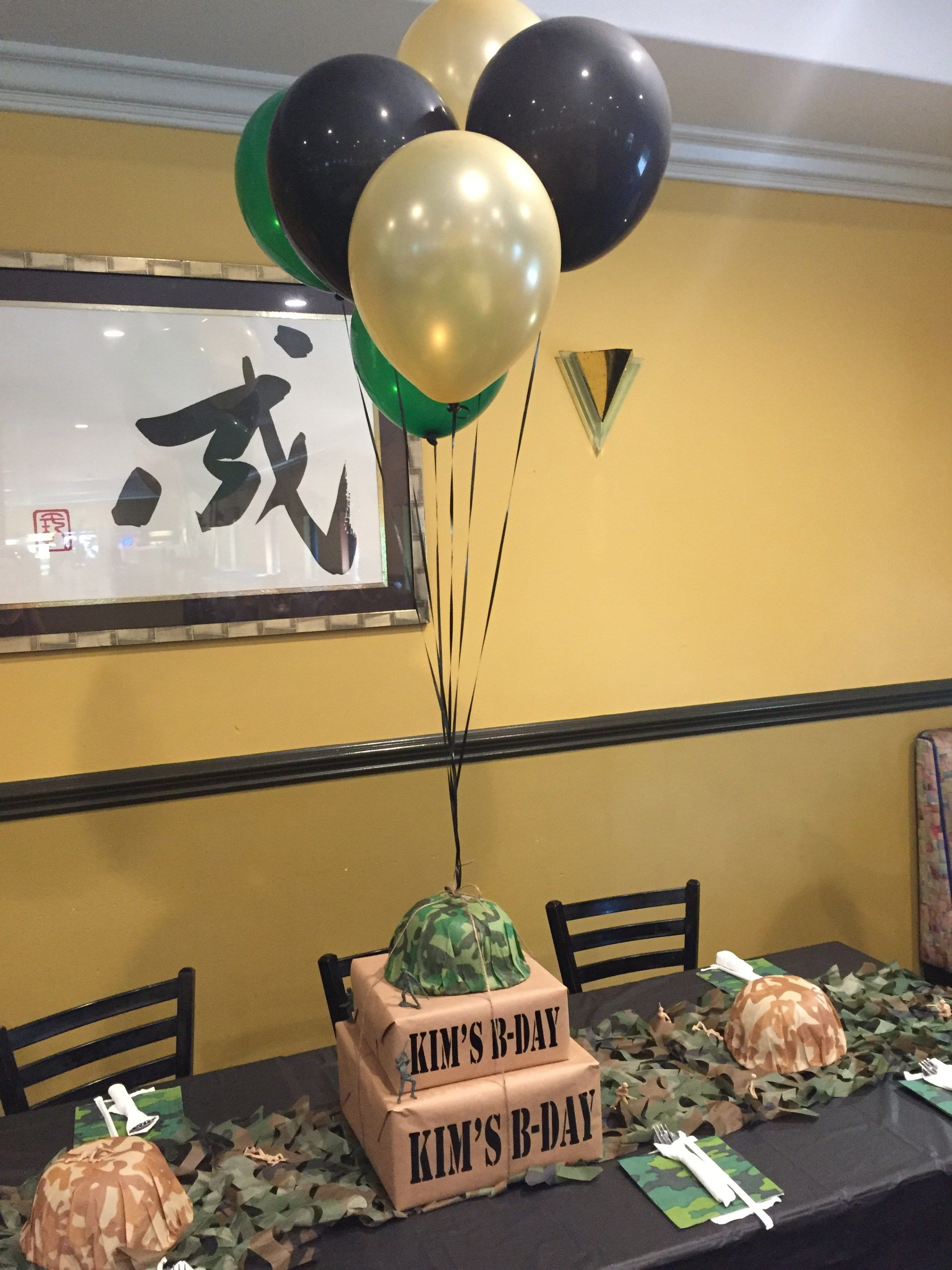 Army Camouflage 60th Birthday Party Mickey Mouse Birthday 60th
