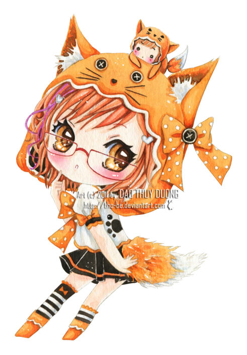Cute Fox Girl I Don T Know Why But I Thought The Girl Was