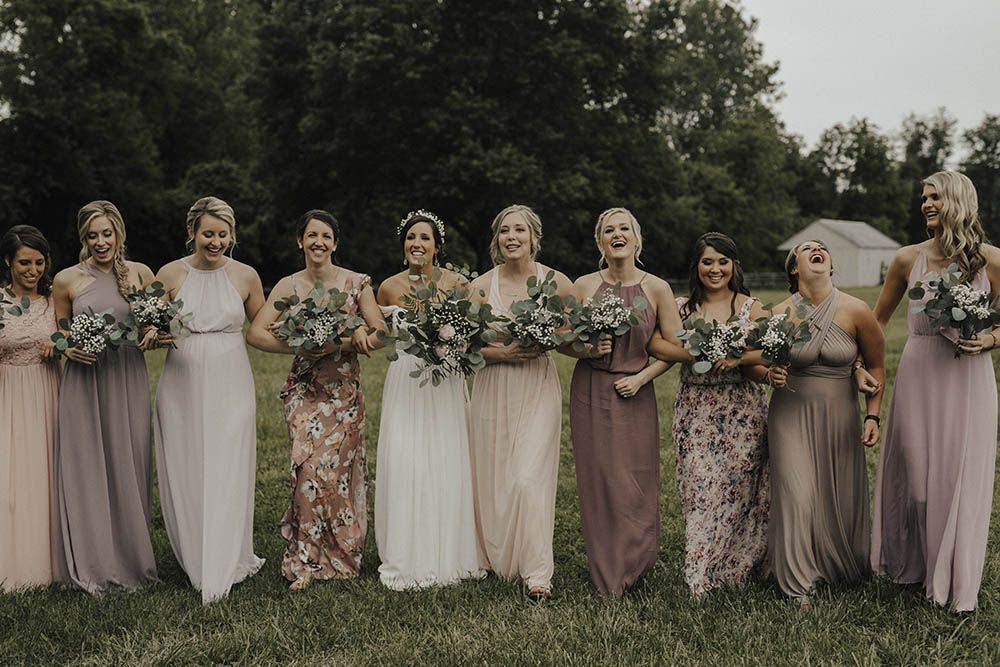 c5aecf9de Jenny Yoo Bride For An Outdoor Farm Wedding In Maryland USA With Bridesmaids  In Mismatched Dresses & Images From Erin Krespan