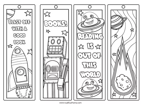 Free Printable Color Your Own Space Bookmarks And Reading Log For Kids Free Printable Bookmarks Bookmarks Printable Coloring Bookmarks Free