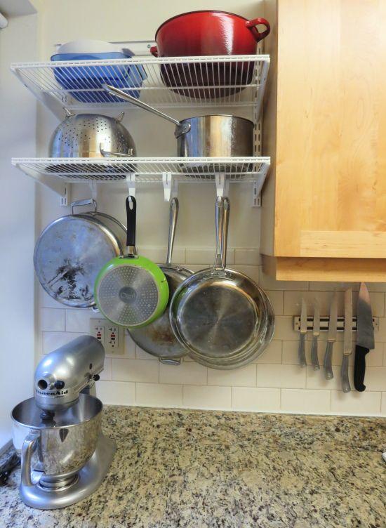 Elfa Pot Rack Kitchen Corner Elfa Shelving Elfa