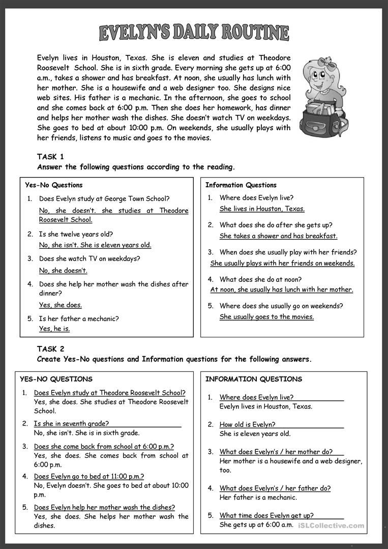 Evelyn S Daily Routine Worksheet Free Esl Printable Worksheets Made By Teachers Daily Routine Worksheet Daily Routine Activities Daily Routine