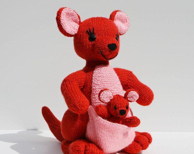 Tuto/pattern TRICOT : maman Kangourou et son bébé | Poupées, doudous ...