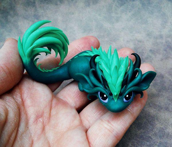 Feisty Little Dragon By Dragonsandbeasties Deviantart Com On Deviantart With Images Smoki Glina Polimerowa Rzemioslo